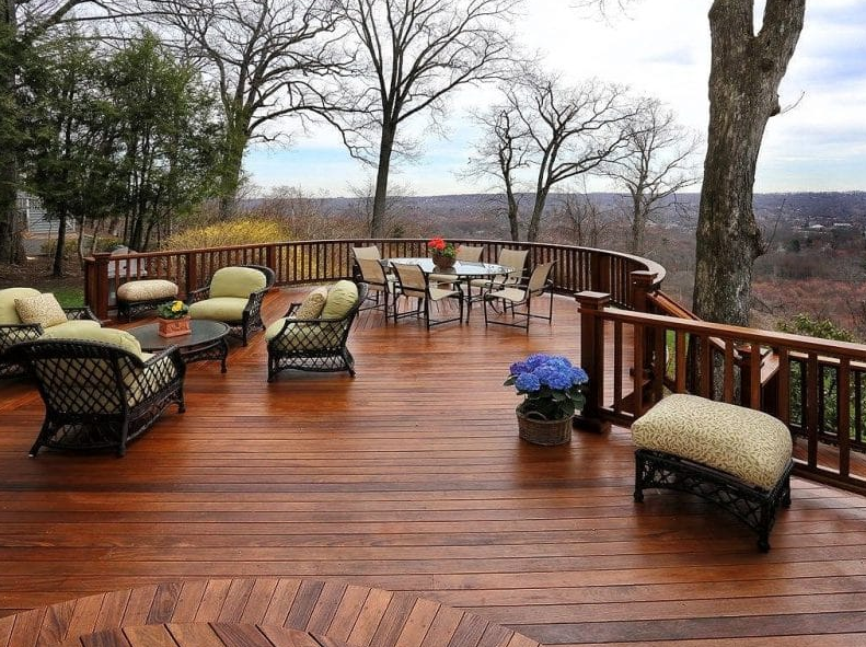Curved Railing - sundeck designs