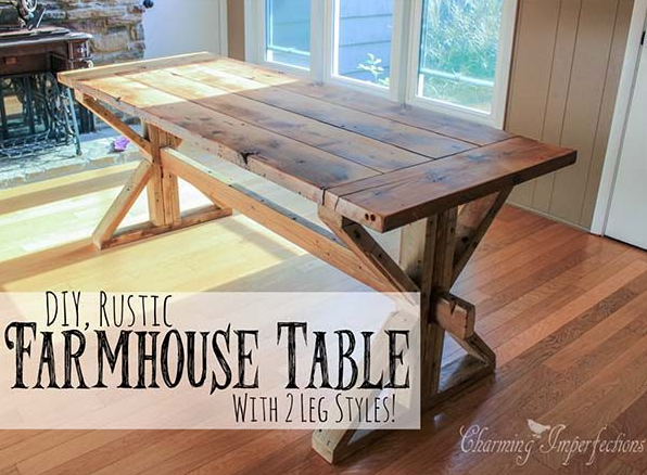 Farmhouse Table Plans 14