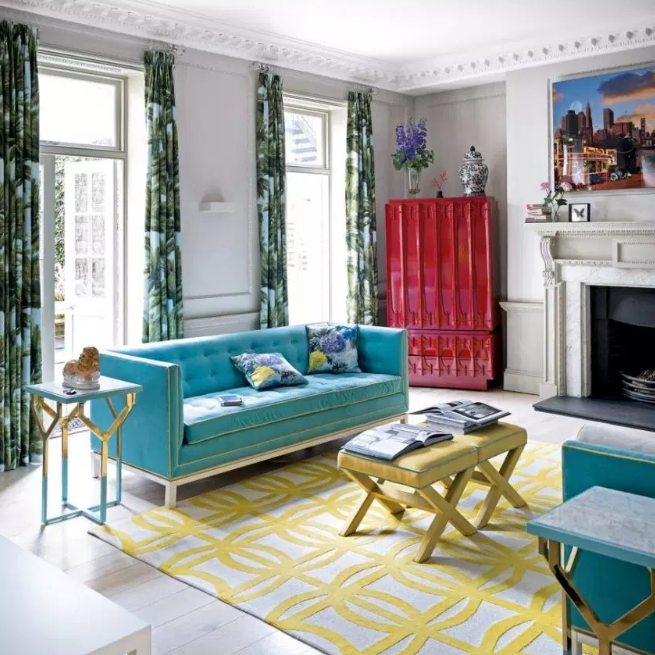 Experimentation is key - living rooms color ideas
