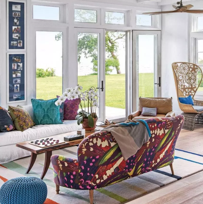 Multicolored life - living rooms color ideas