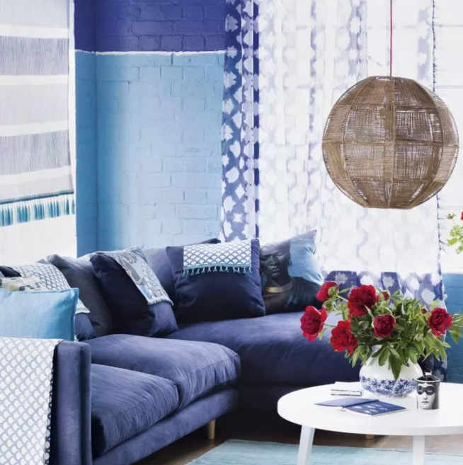 Only Blue - living rooms color ideas