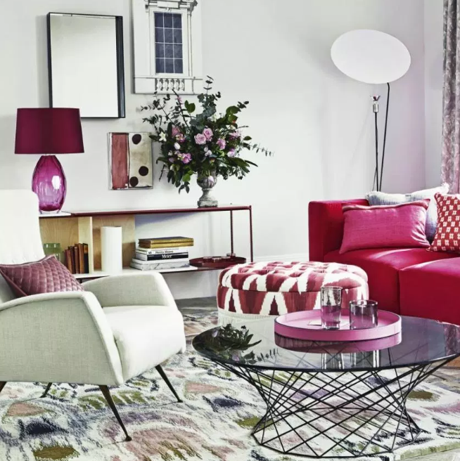 Pinkyness- living rooms color ideas