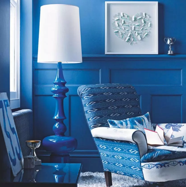 So much blue - living rooms color ideas