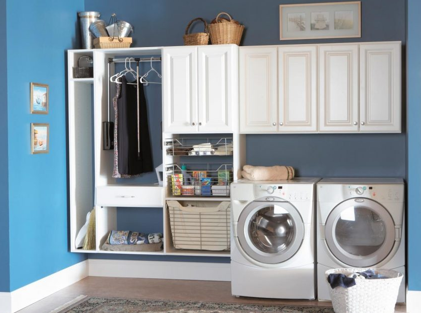 Storage Ideas for Modern Laundry Room