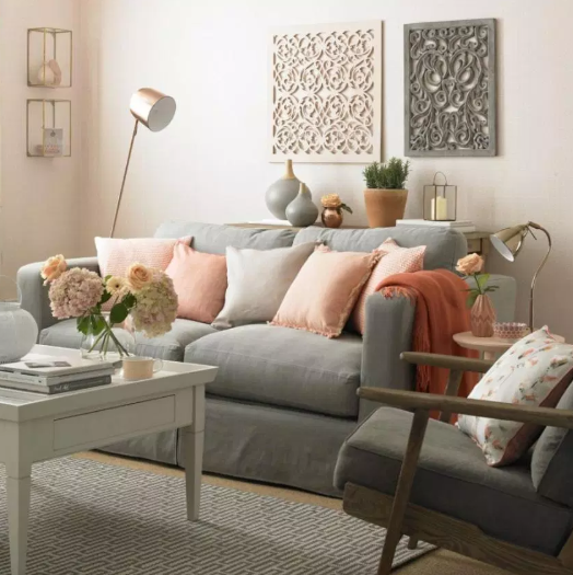 white and gray - living rooms color ideas
