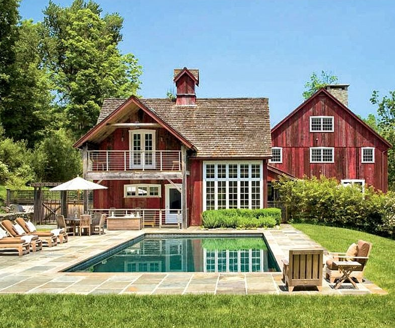 Small Inground Pool Ideas - Barn