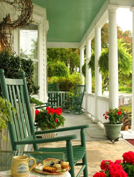 flowering porch ideas