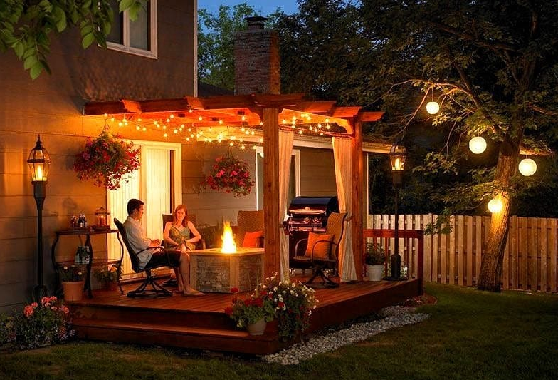attached pergola design